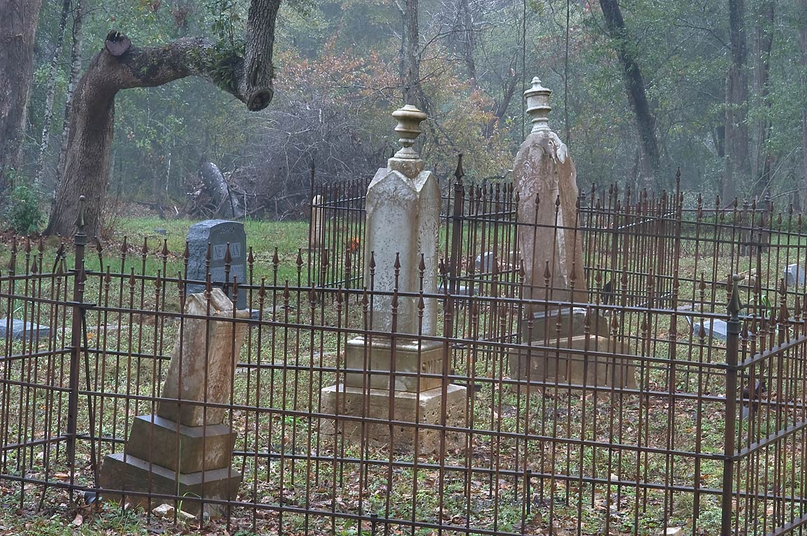 Tombs of Good Hope Cemetery on William Penn Rd., east from Independence. Texas