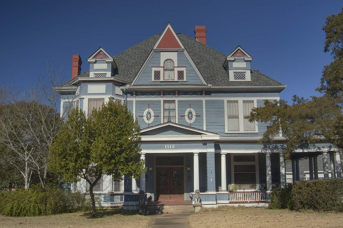 Sangster family house (1902) at 1113 East Washington St. near McNair St.. Navasota, Texas
