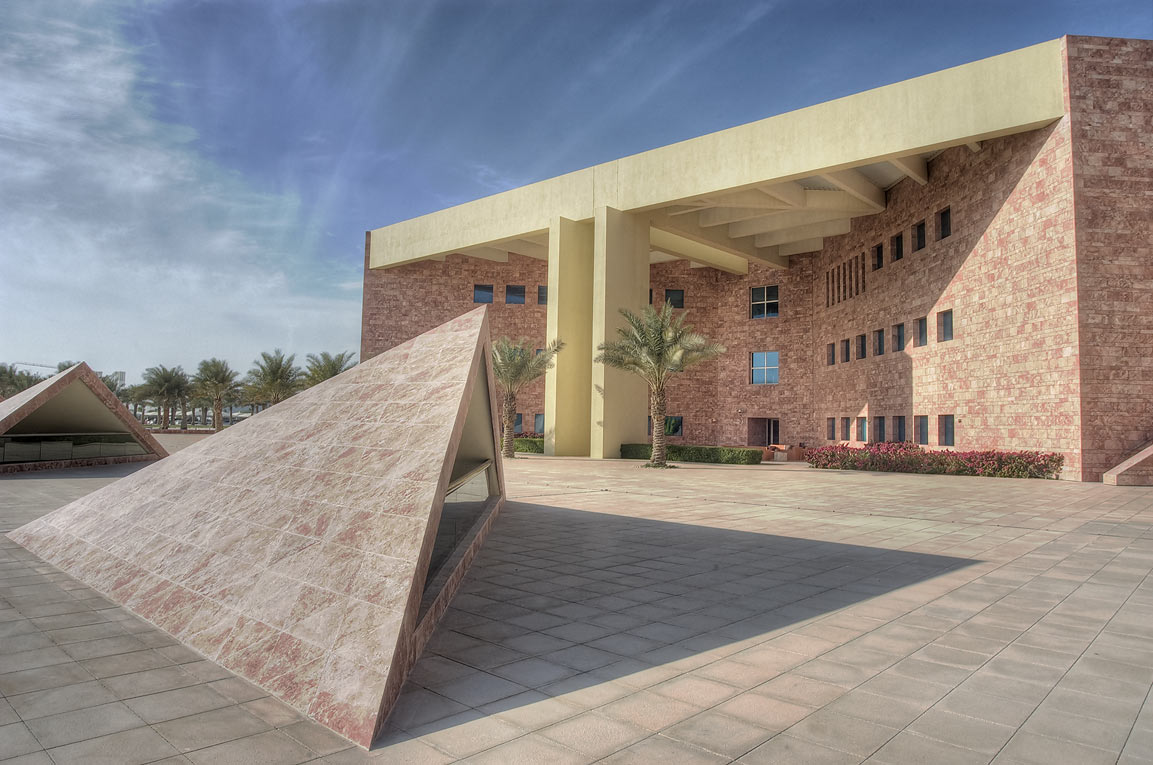 TAMUQ research area (Texas A&M University at...in Education City campus. Doha, Qatar