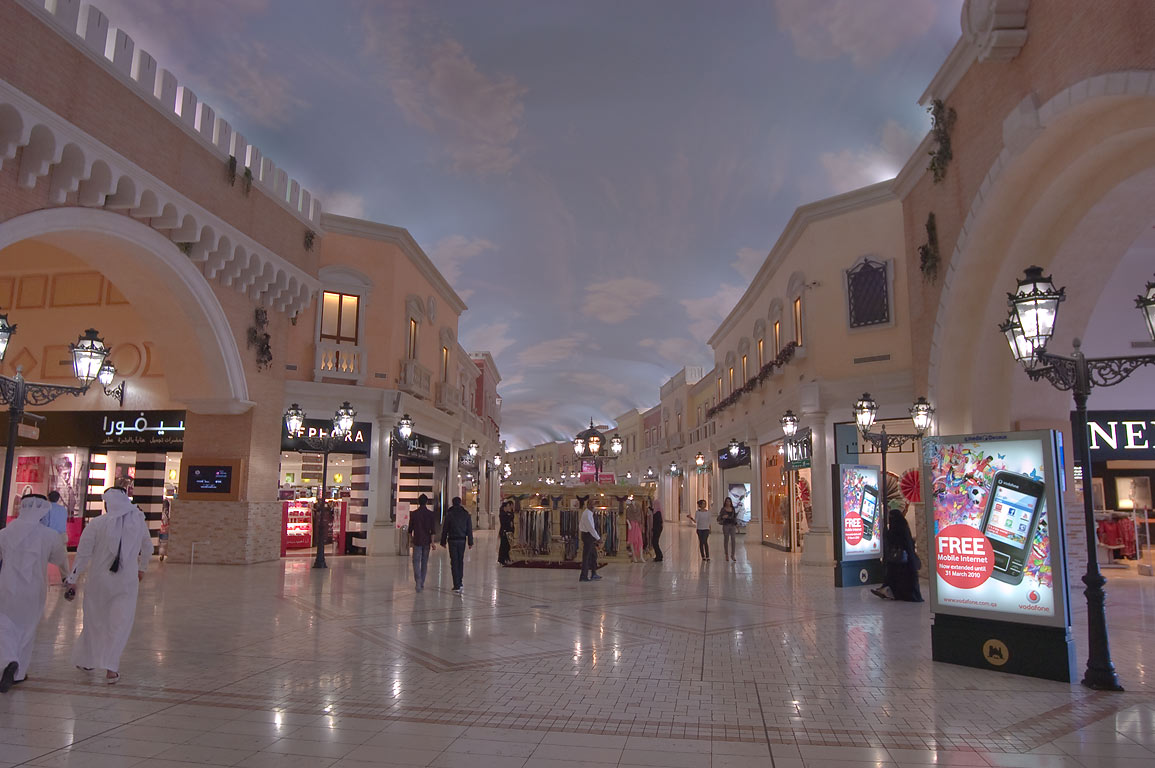 Villagio shopping mall in Aspire Zone that looks...Palace in Las Vegas. Doha, Qatar