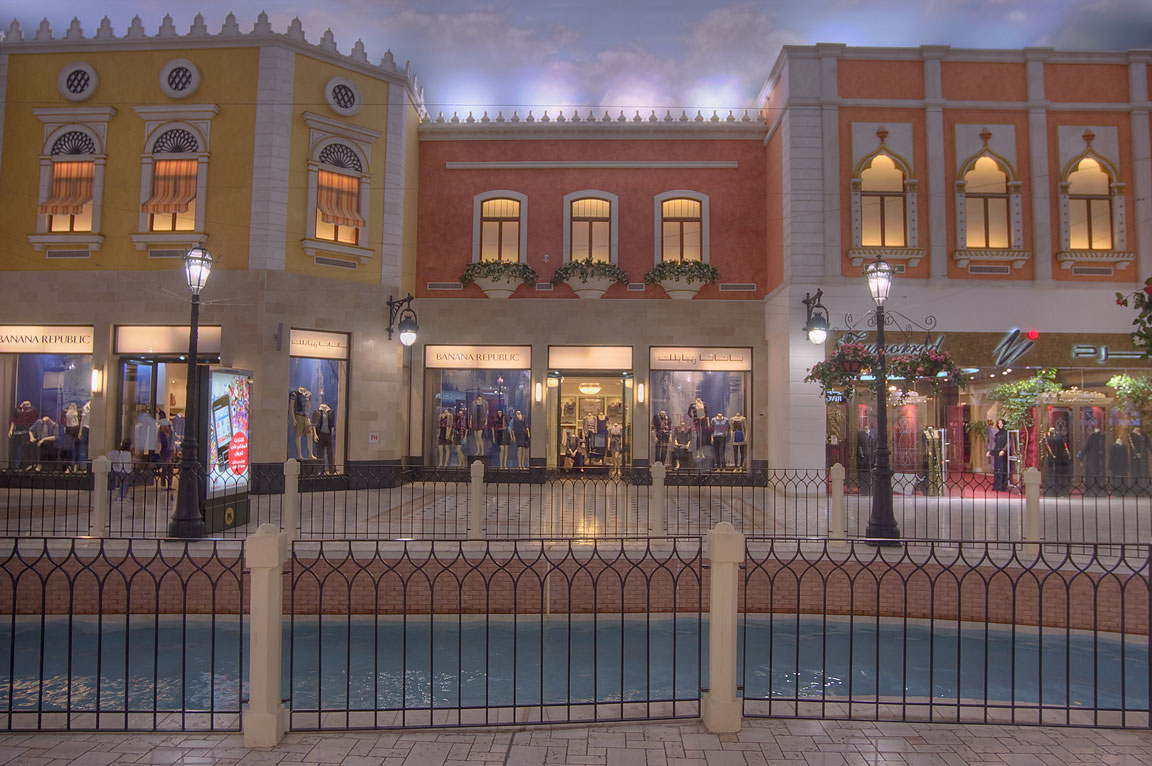 Villagio shopping mall in Aspire Zone that looks...Casino in Las Vegas. Doha, Qatar