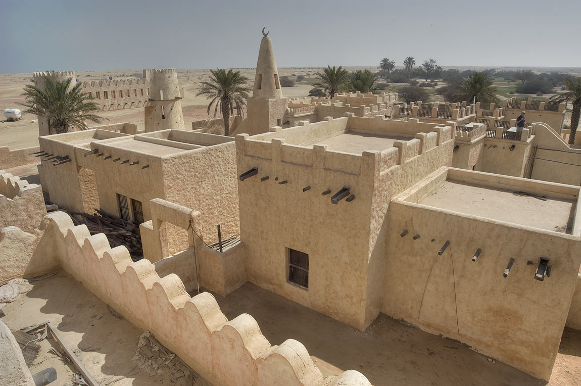 Film City, conglomerate of traditional Gulf...area, north from Zekreet. Qatar