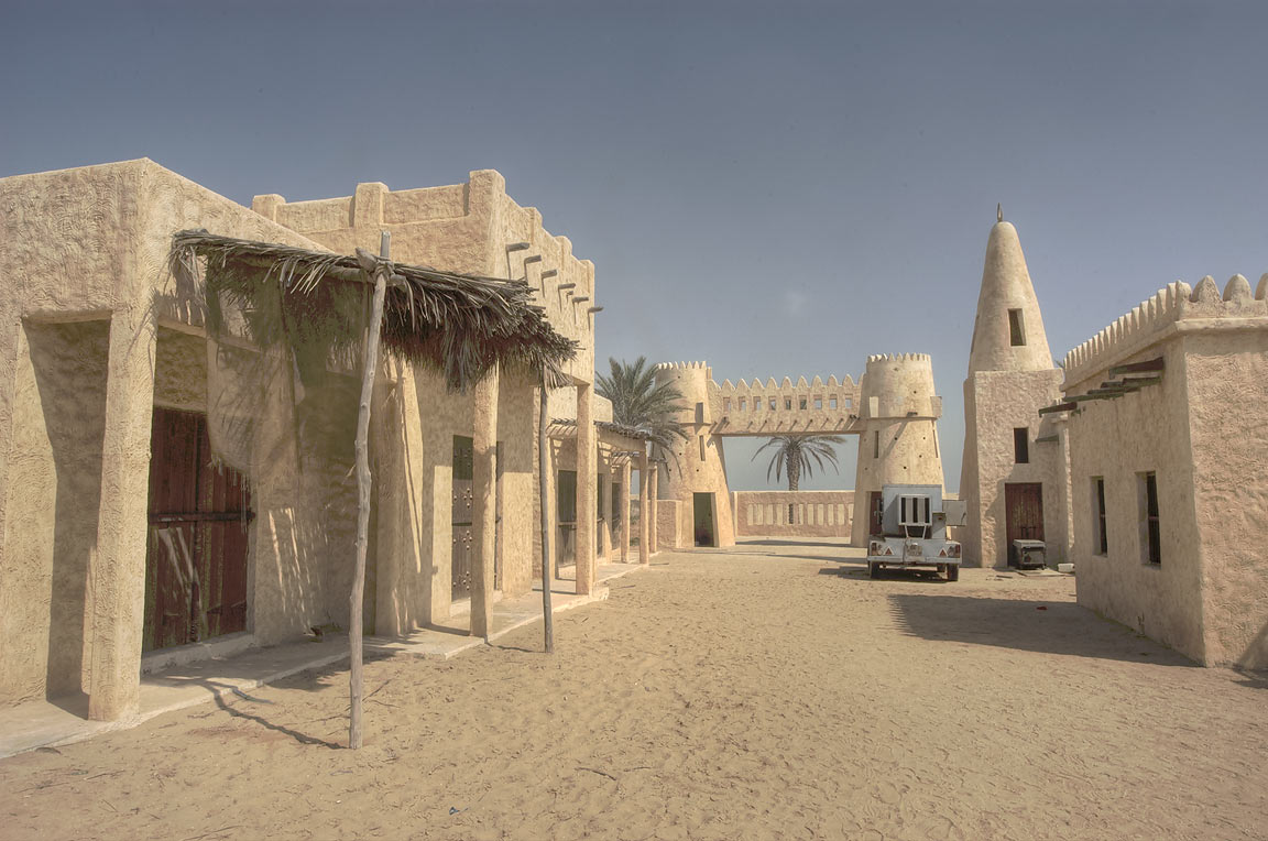 Film City, a mini-town film set for a television...area, north from Zekreet. Qatar