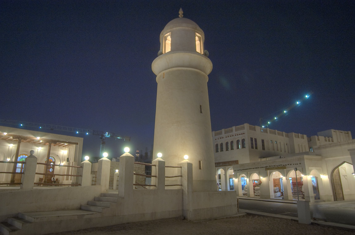 Souq Waqif Mosque at evening. Doha, Qatar