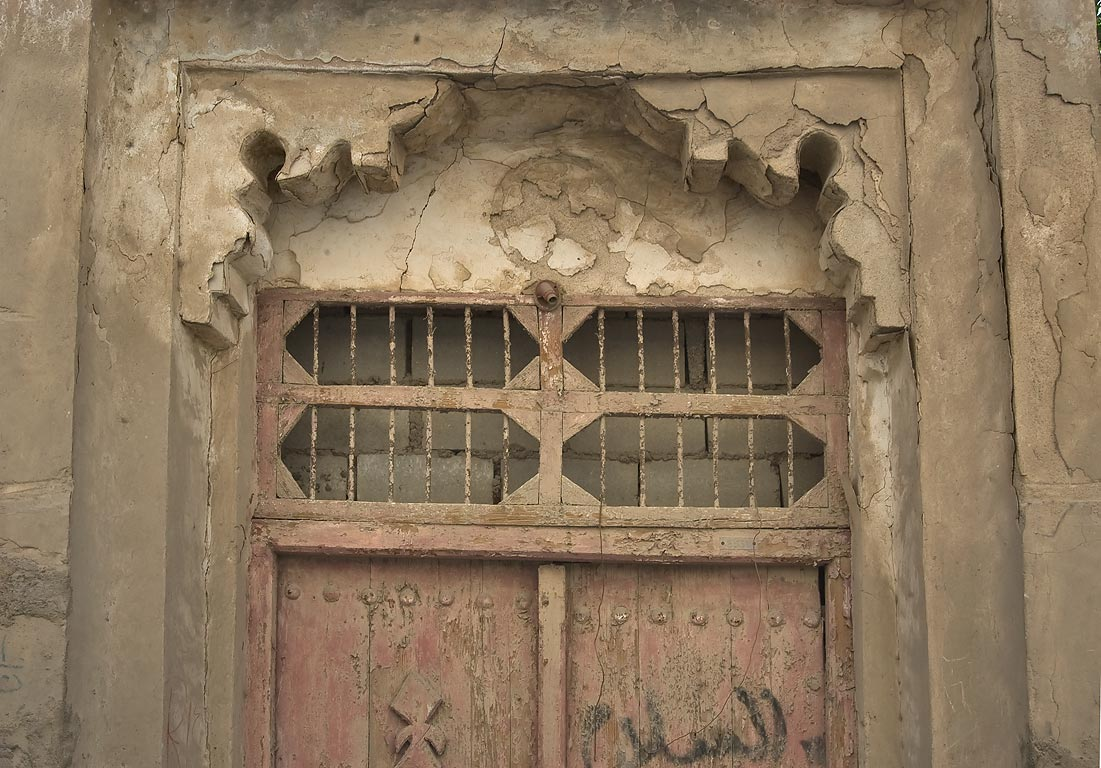 Doorway in area of Al Nuha St.. Doha, Qatar