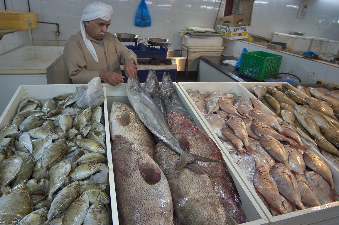 Photo 922 20 arranging fish on a stall in central fish for Central fish market