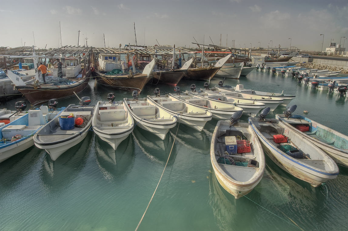 Fishing harbor of Ruwais on north coast. Qatar