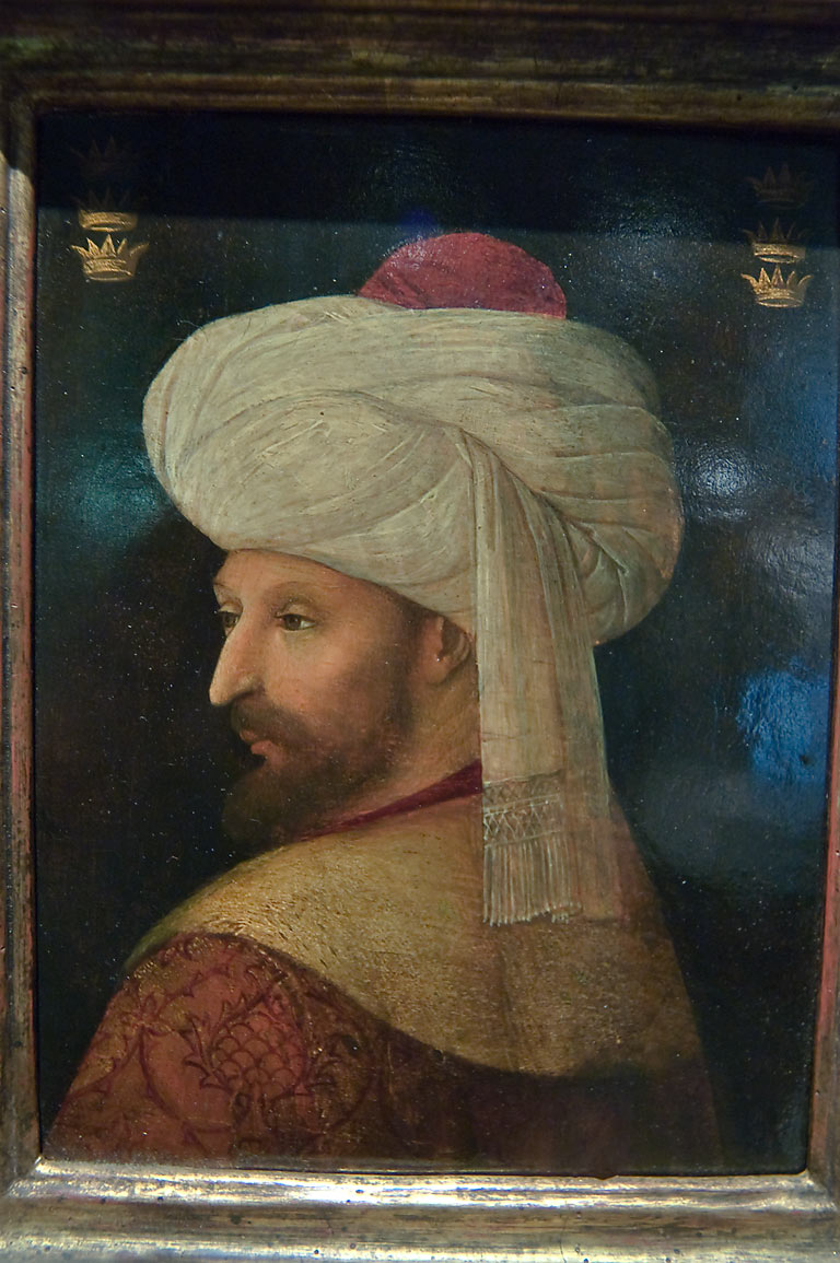 Portrait of Sultan Mehmed II el-Fatih the...in Museum of Islamic Art. Doha, Qatar