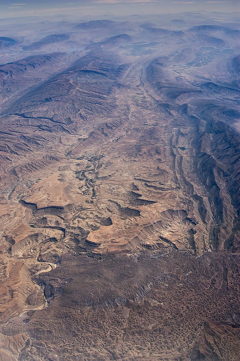 Valley of Rudhaneye-Firuzabad River in south...plane from Doha, Qatar to Houston, TX