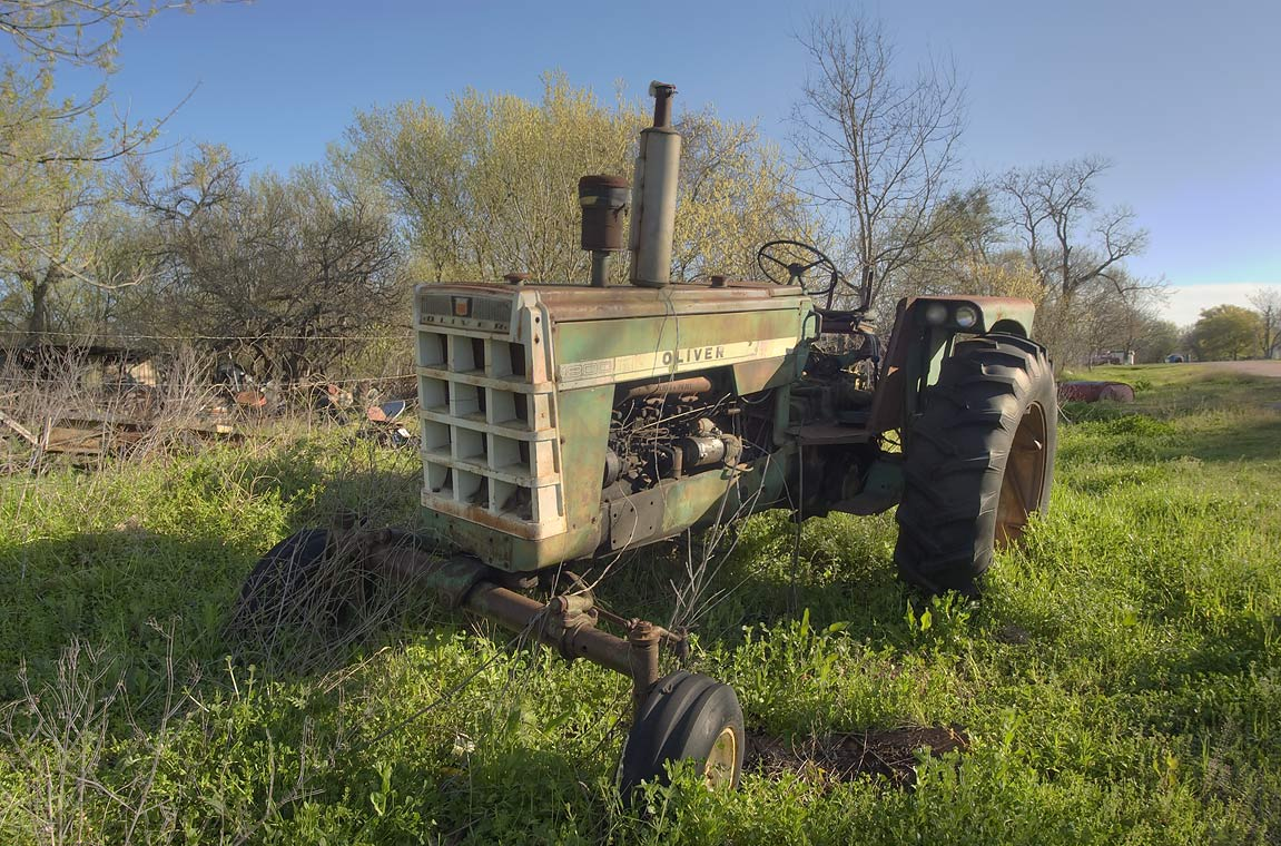 College Station, Texas  - Tractor in west part of Calvert. Texas