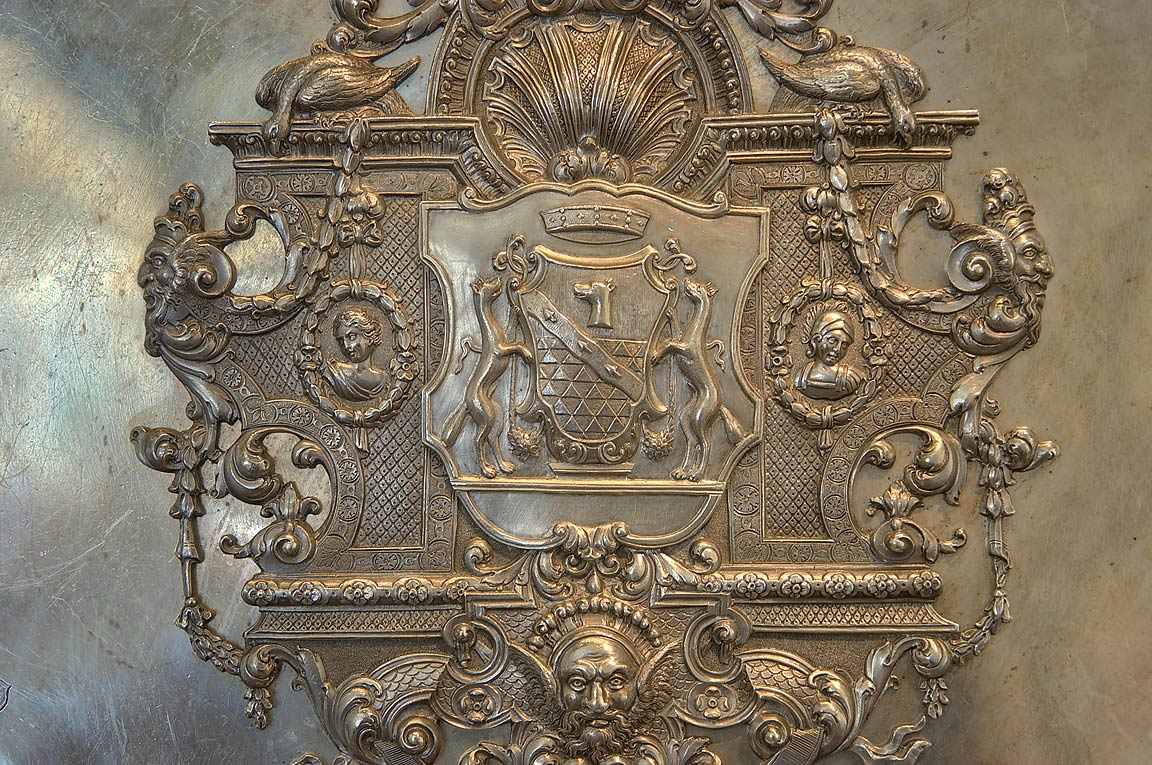Coats of arms in Hermitage Museum. St.Petersburg, Russia