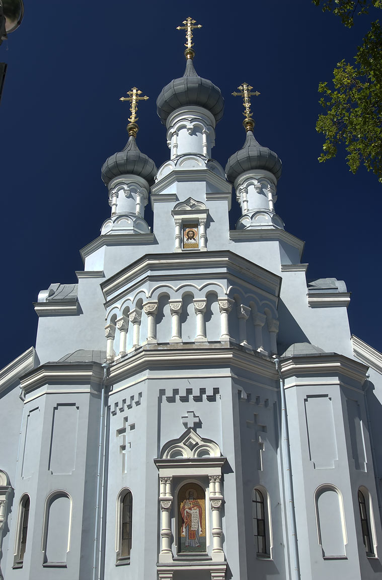 Recently renovated orthodox Christian Church St...in Kronstadt. St.Petersburg, Russia