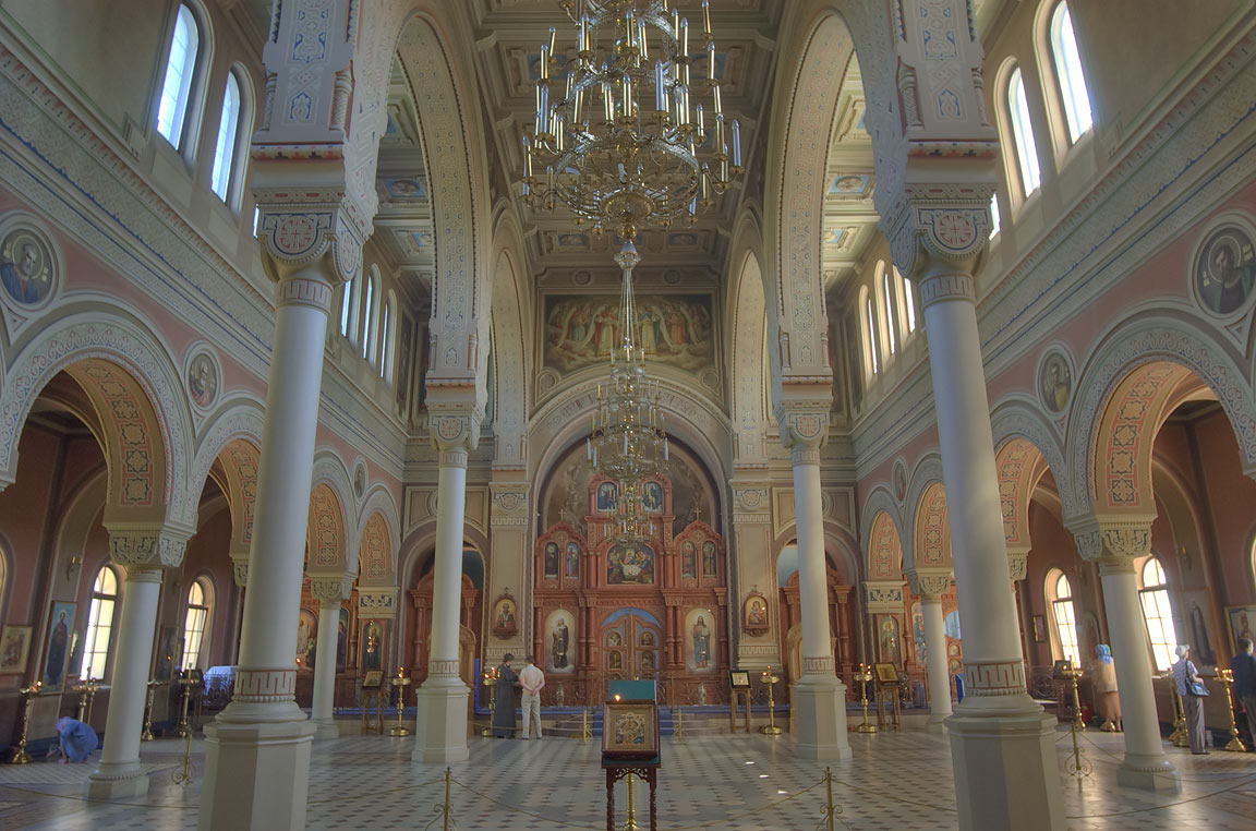 Interior of St.Vladimir Cathedral in Kronstadt. St.Petersburg, Russia