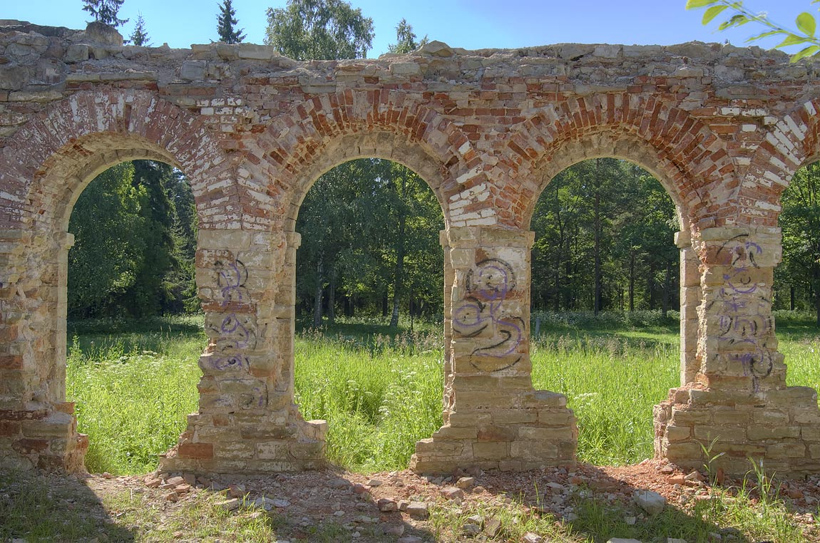Arches of Poultry Farm (Ptichnik) in Gatchina...a suburb of St.Petersburg, Russia