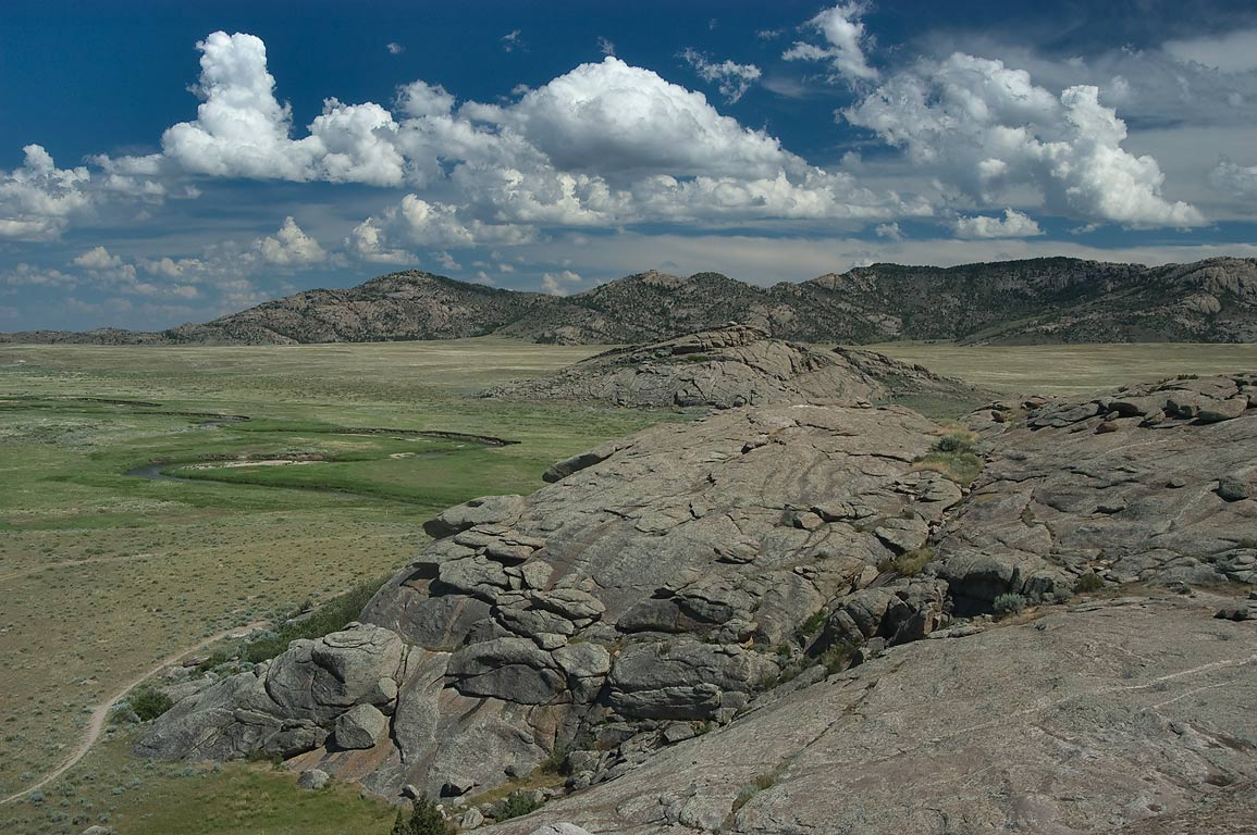 Landscape from Independence Rock west from Casper. Wyoming
