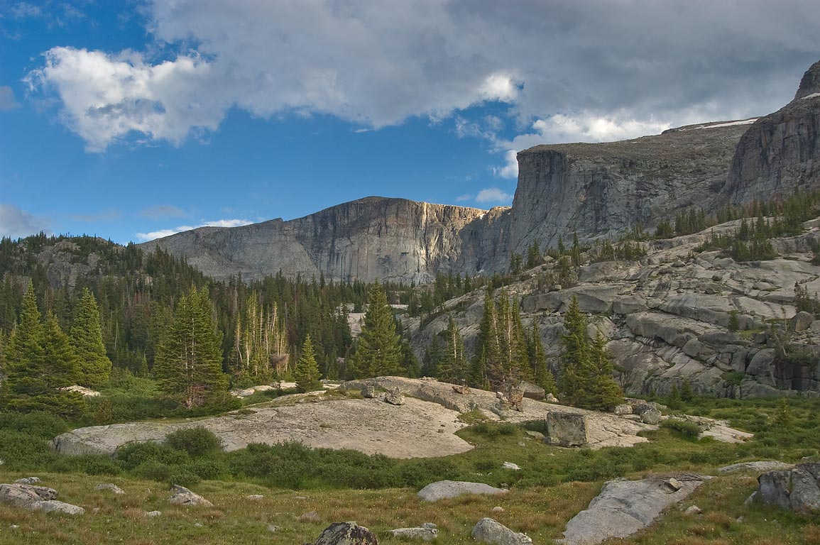 Upper part of Teensleep Creek in Cloud Peak Wilderness. Wyoming