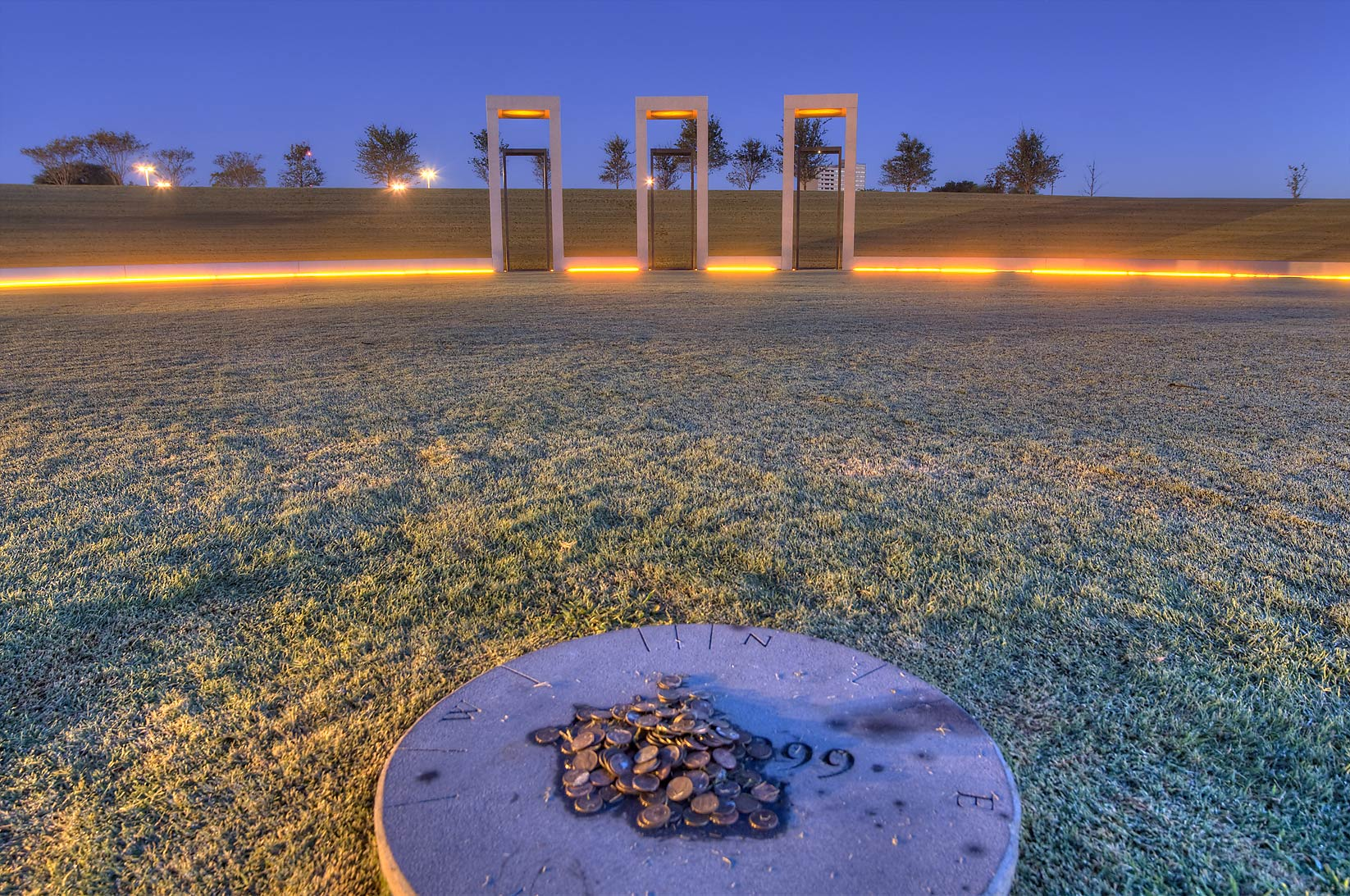 Bonfire Memorial on campus of Texas A&M...in foreground. College Station, Texas