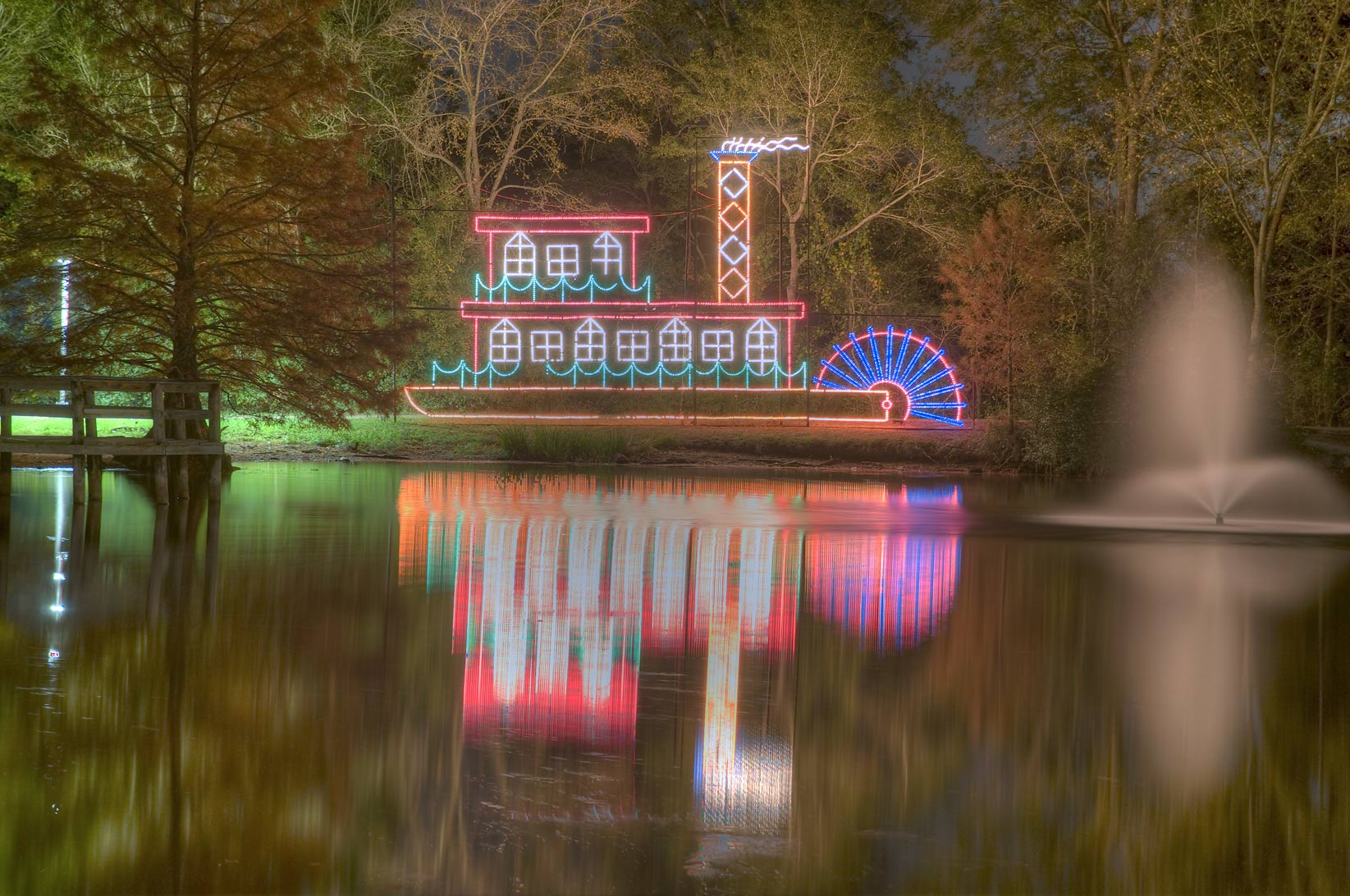 Central Park College Station Christmas lights - search in pictures