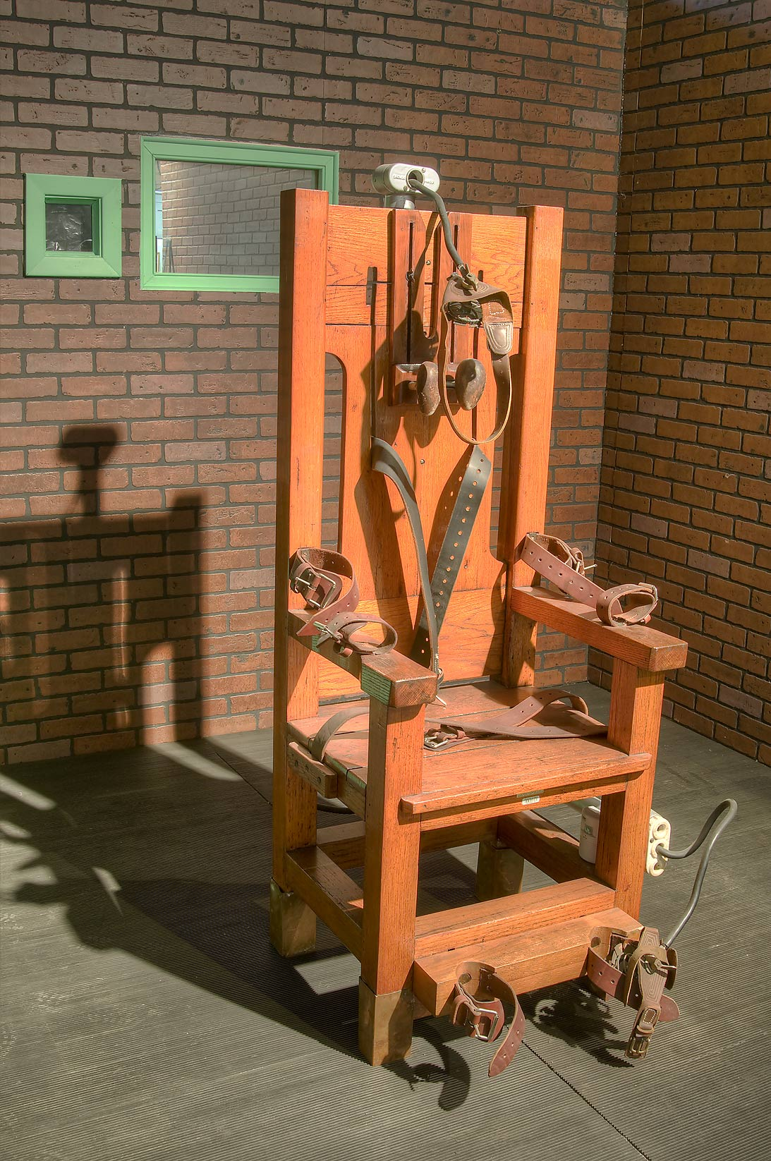 Used electric chair in Prison Museum. Huntsville, Texas