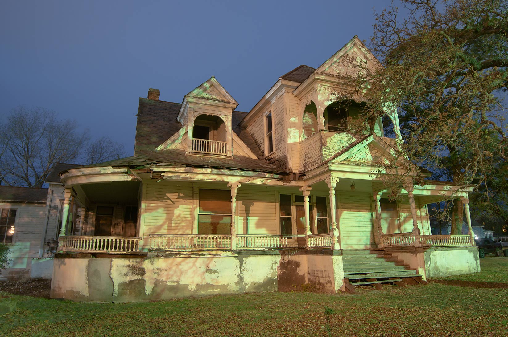 Jake Abrams-Allday House (1887) at 209 East...St. at early morning. Calvert, Texas