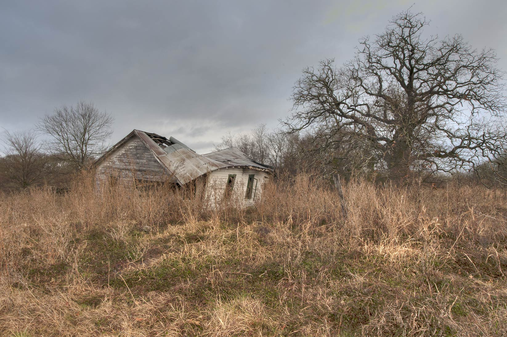 Abandoned old house near Mission de Cristo Jesus...Port Sullivan, west from Hearne. Texas