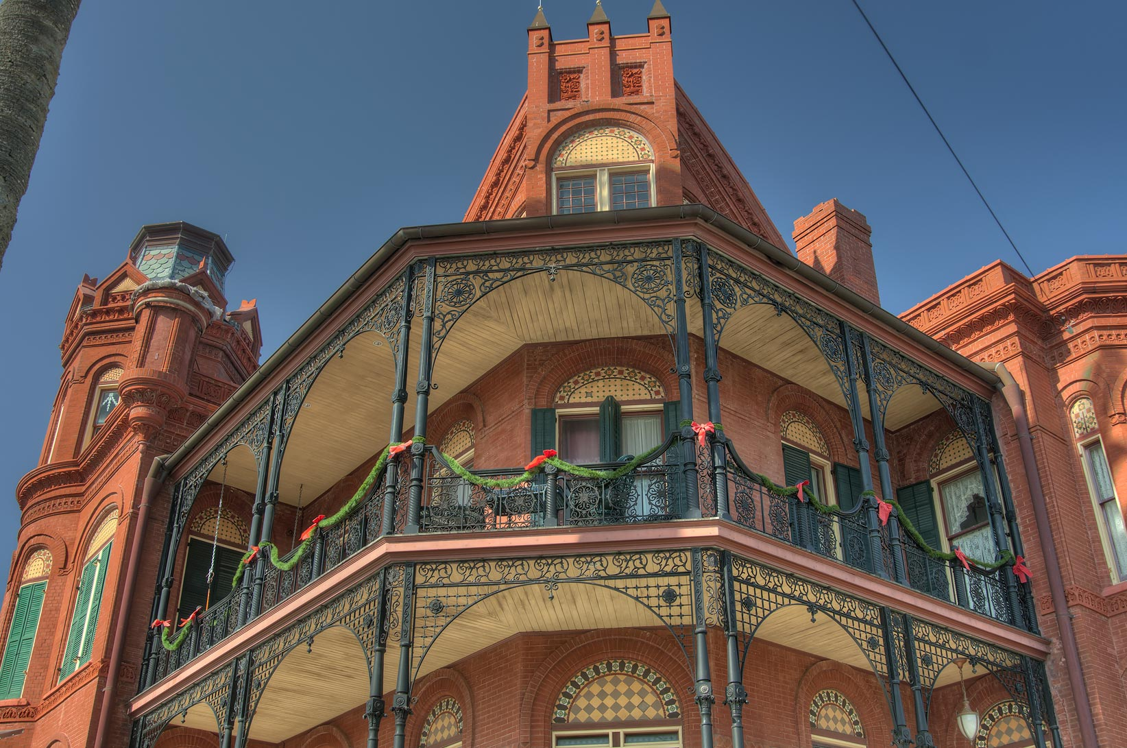 Landes-McDonough house (1887-8) at 1602...Historic District. Galveston, Texas