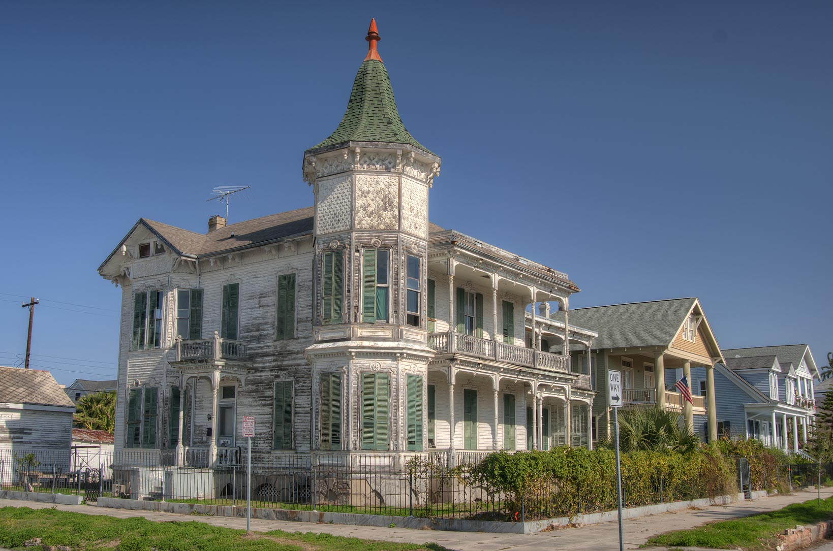 Gustave Heye house (c. 1880) at 1226 Postoffice...Historic District. Galveston, Texas