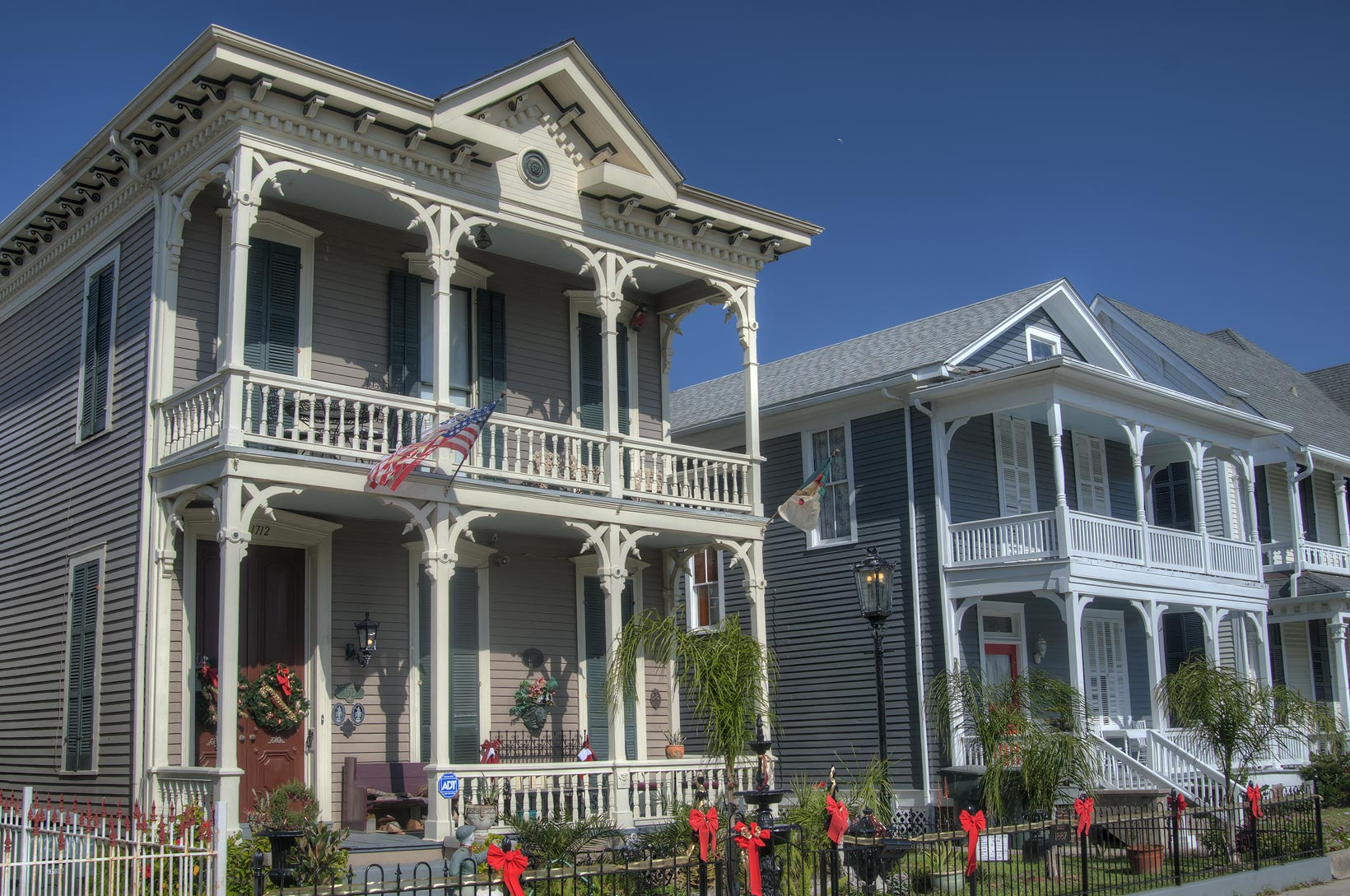 Mrs. Jetta Davis house (1887) at 1712 Winnie St...Historic District. Galveston, Texas