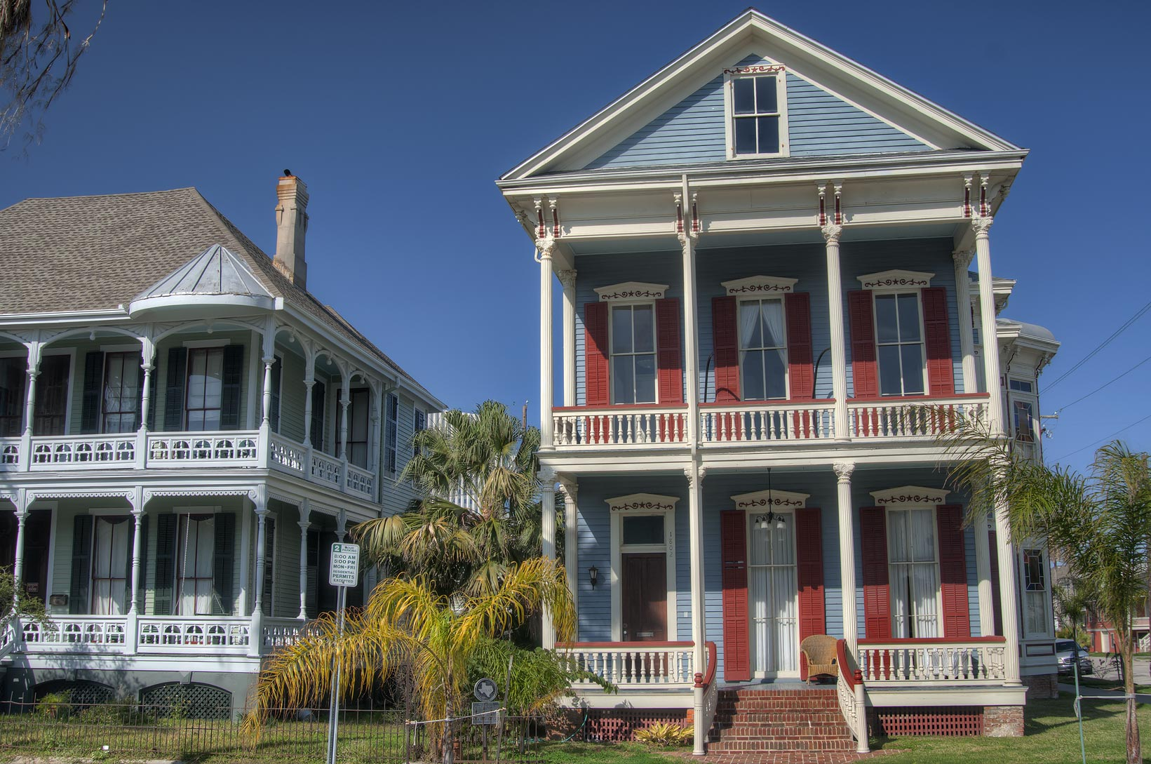 Front view of Maxwell Maas House (1885) at 1802...Historic District. Galveston, Texas