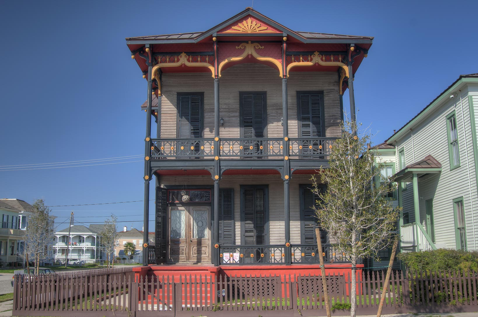 Rudolph Kruger House (1888) at 1628 Postoffice St...Historic District. Galveston, Texas