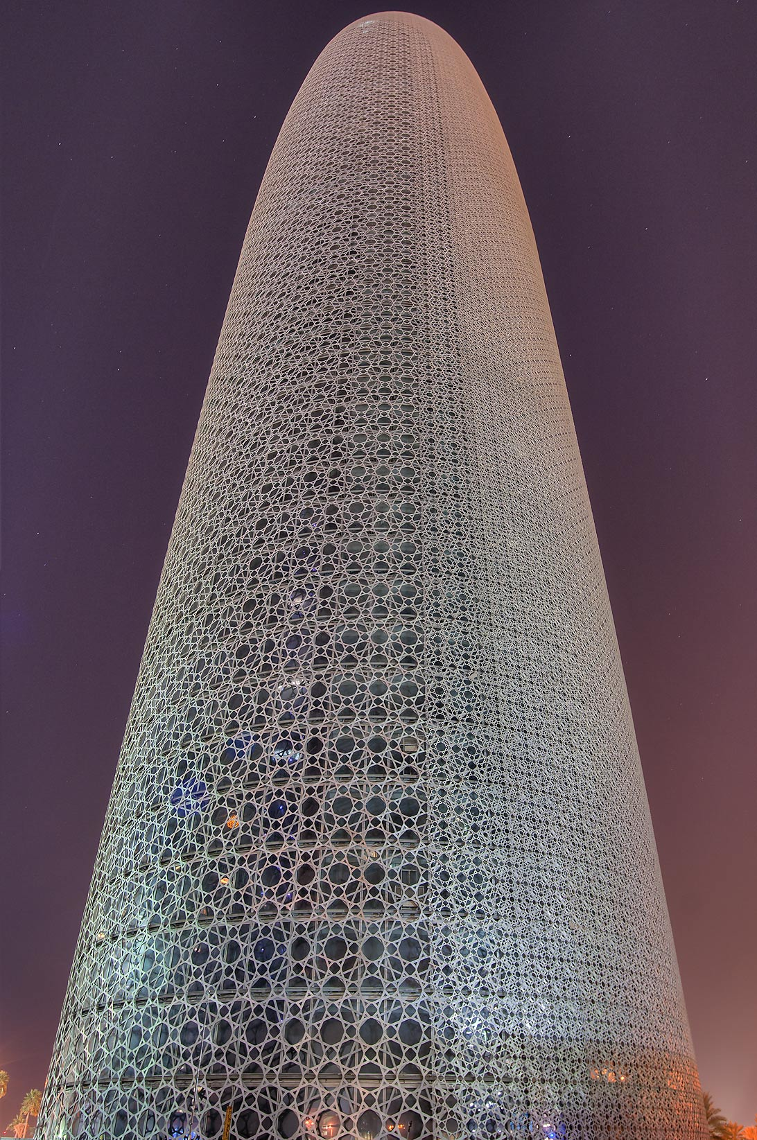 Burj Qatar Tower in West Bay at early morning. Doha, Qatar