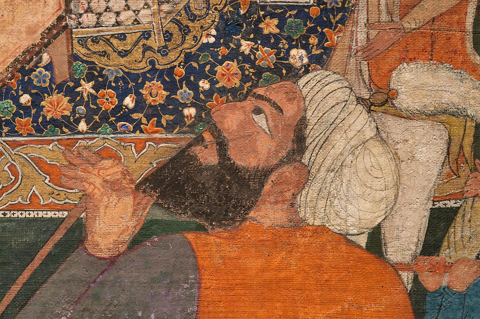 "Fragment of a painting ""Umar comes to look for...in Museum of Islamic Art. Doha, Qatar"