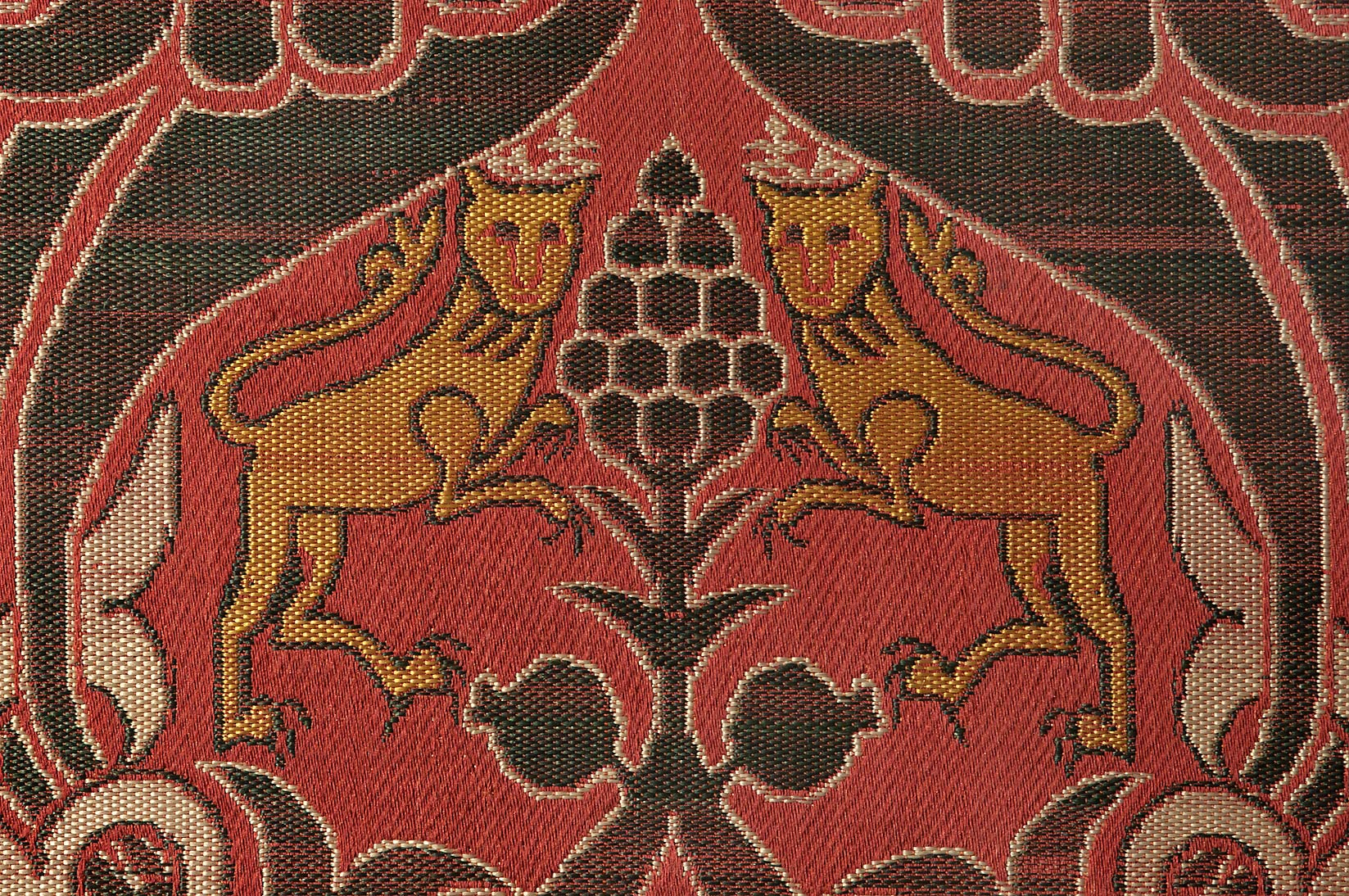 Eastern carpet on display in Museum of Islamic Art. Doha, Qatar
