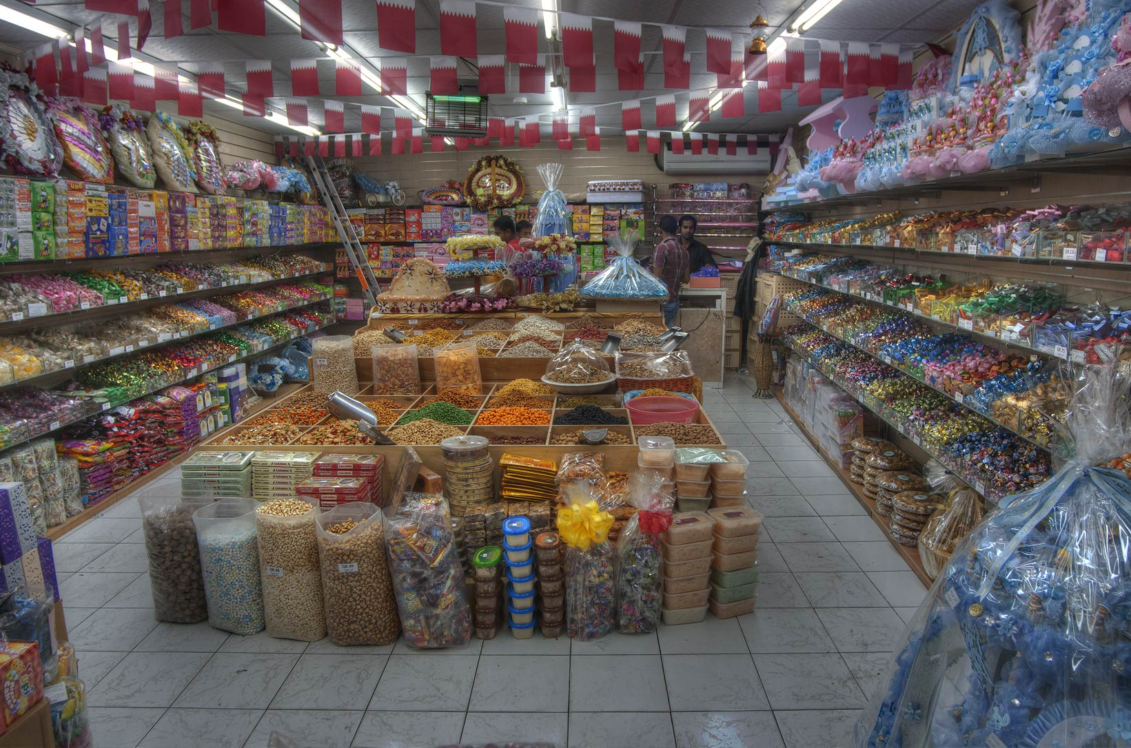 Spice shop in Souq Waqif (Old Market). Doha, Qatar