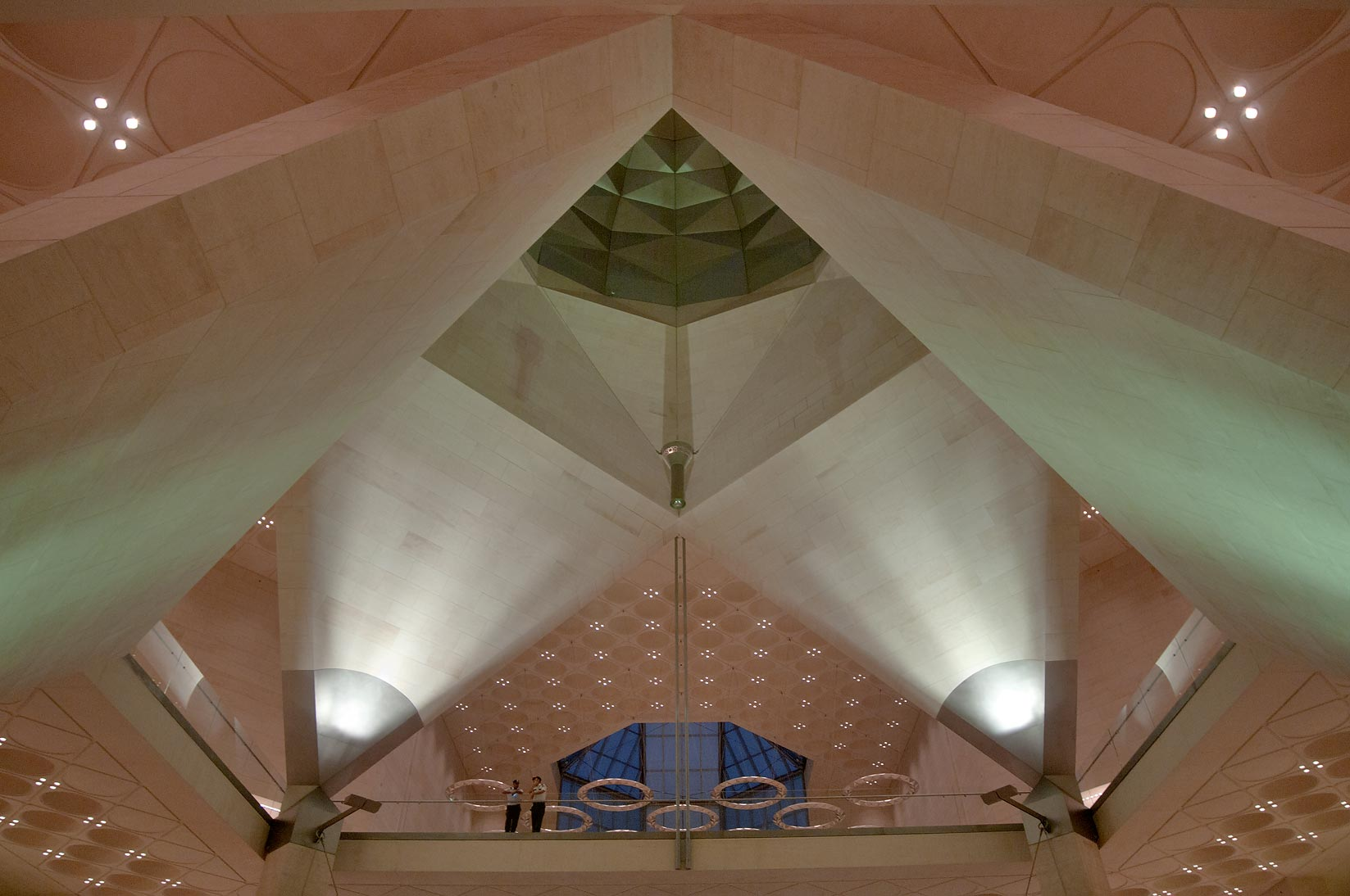 Top store and a dome of Museum of Islamic Art at evening. Doha, Qatar