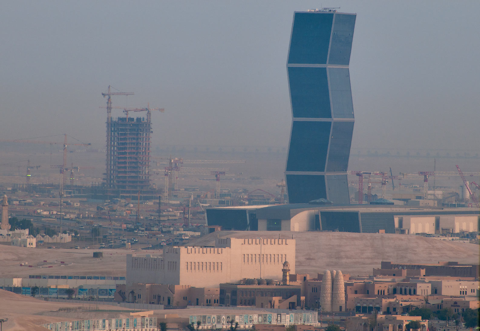 Katara Village and Zigzag Tower, view to the...2303 of ASAS Tower West. Doha, Qatar