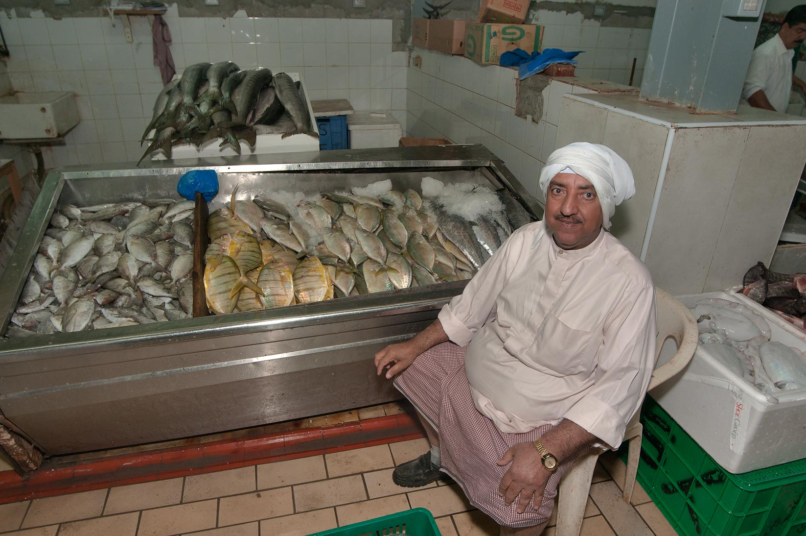 Photo 916 01 fish stall in central fish market doha qatar for Central fish market