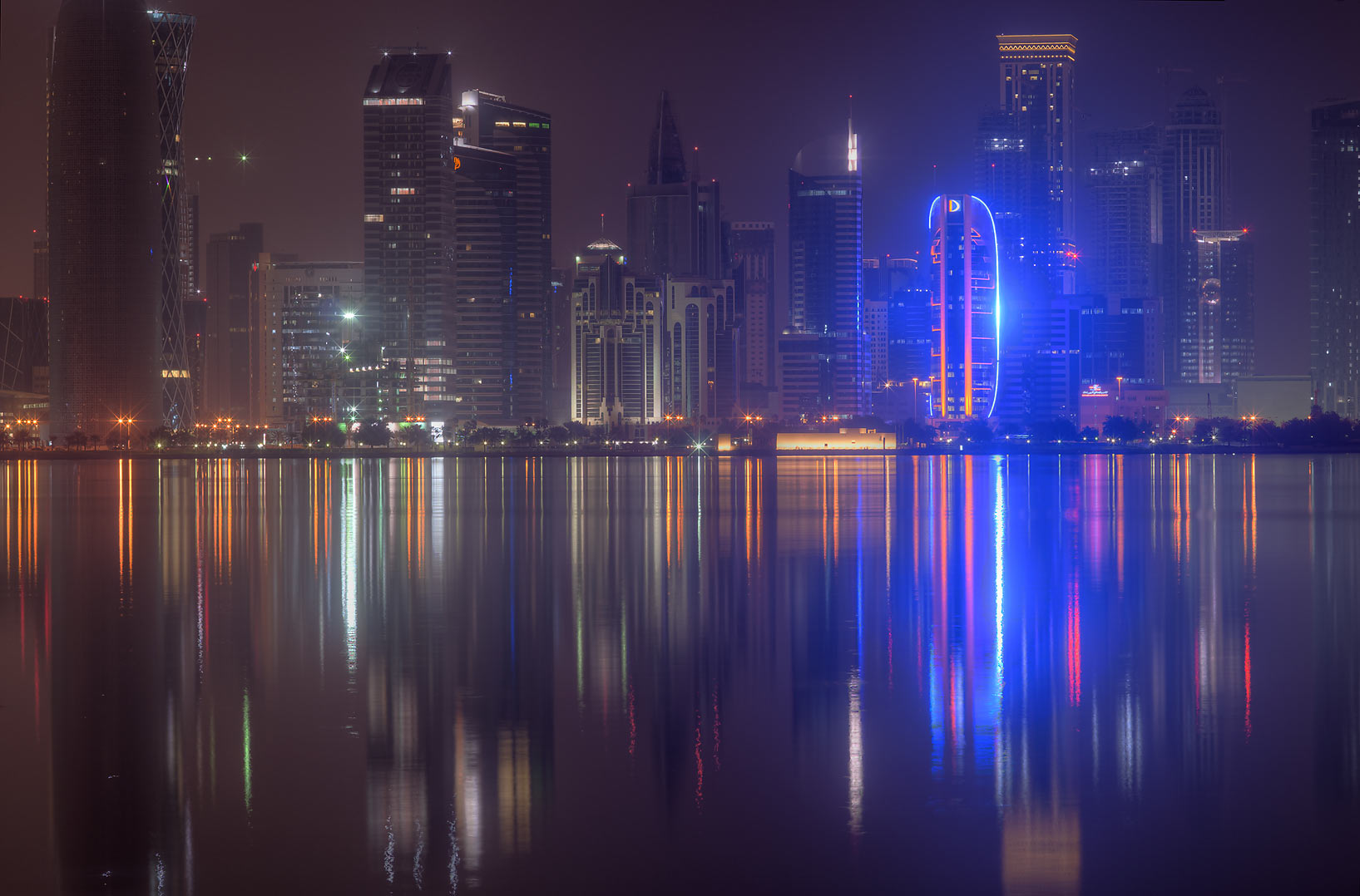 West Bay across the gulf, view from Corniche. Doha, Qatar