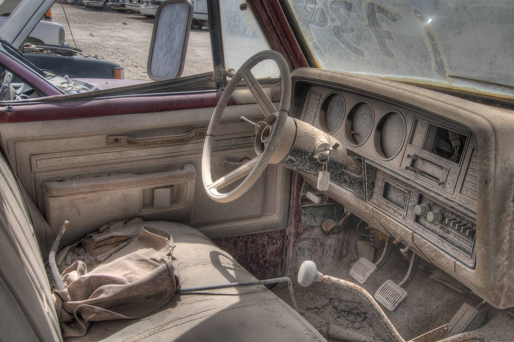 Junk car with keys north of Mesaieed (Umm Said). Qatar