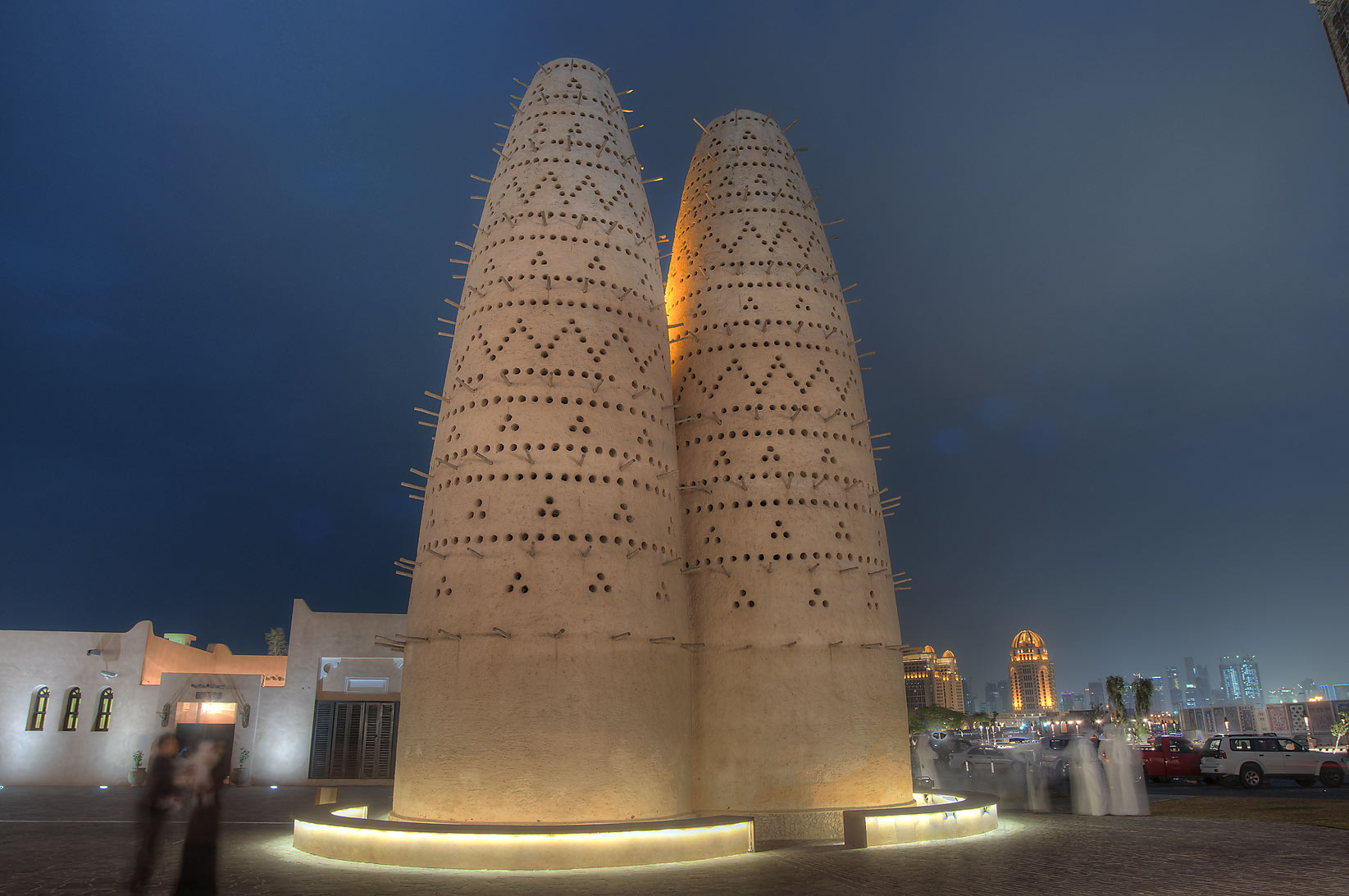 Dovecot in Katara Cultural Village at evening. Doha, Qatar