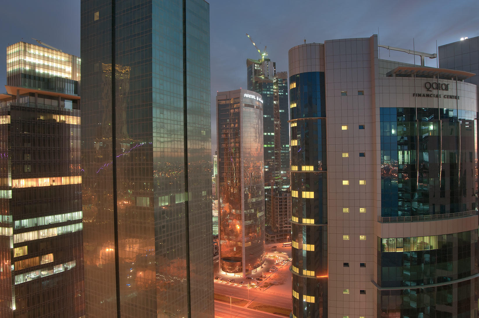 Amwal Tower and Financial Center, view to the...2303 of ASAS Tower West. Doha, Qatar