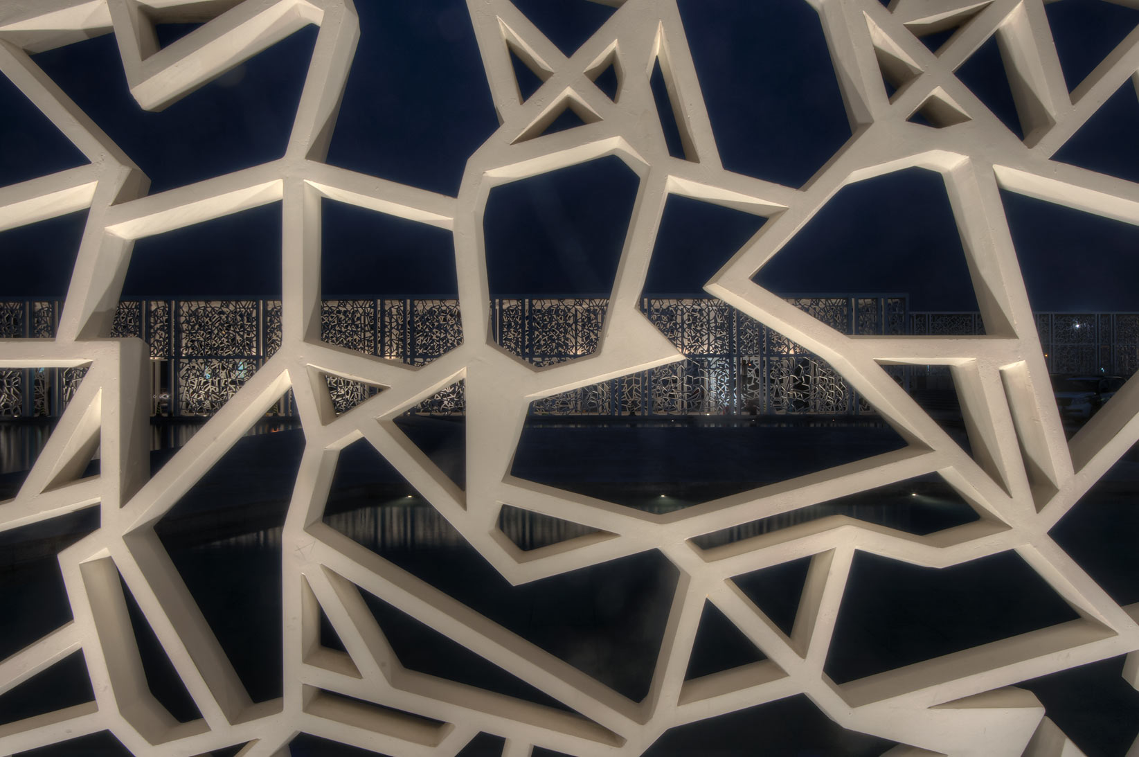 Pattern of passageway of Ceremonial Court on campus of Education City. Doha, Qatar