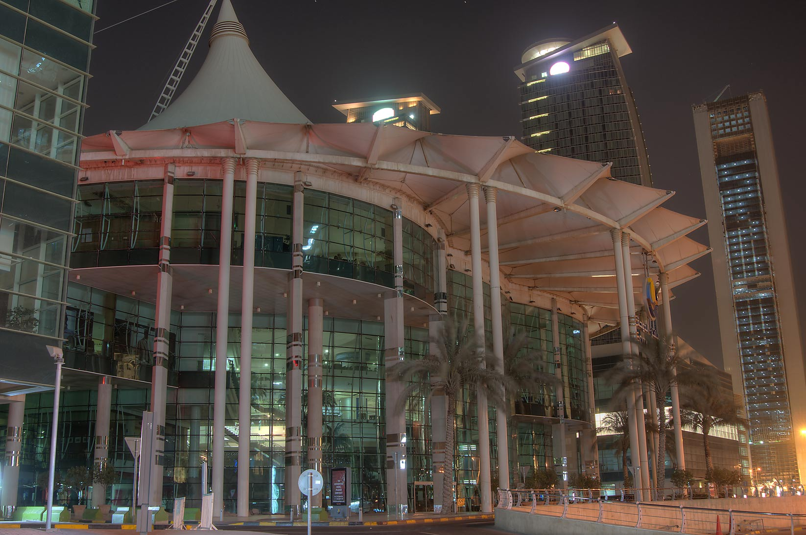 City Center Mall in West Bay, view from Conference Center St.. Doha, Qatar