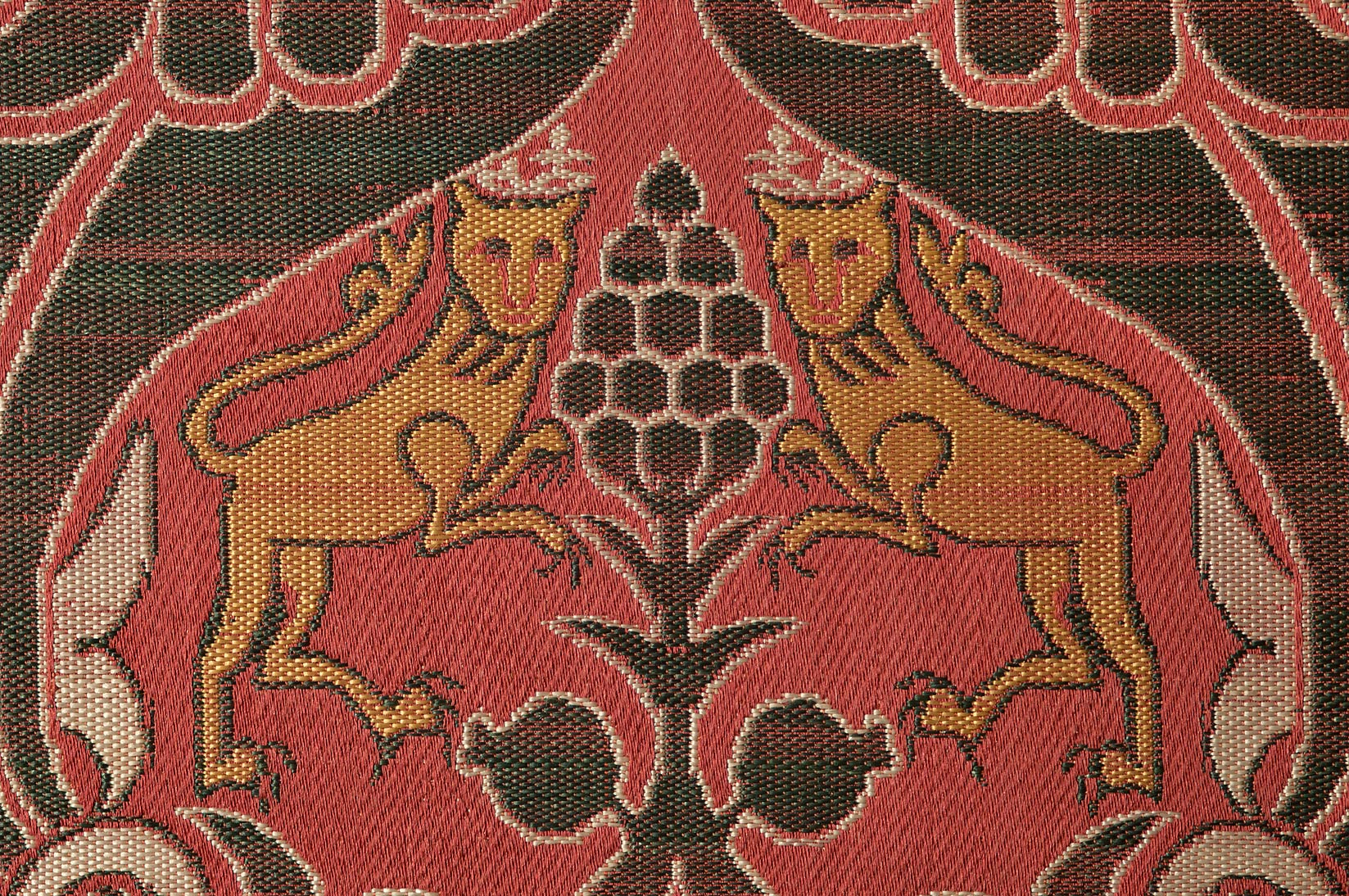 Detail of a carpet on display in Museum of Islamic Art. Doha, Qatar