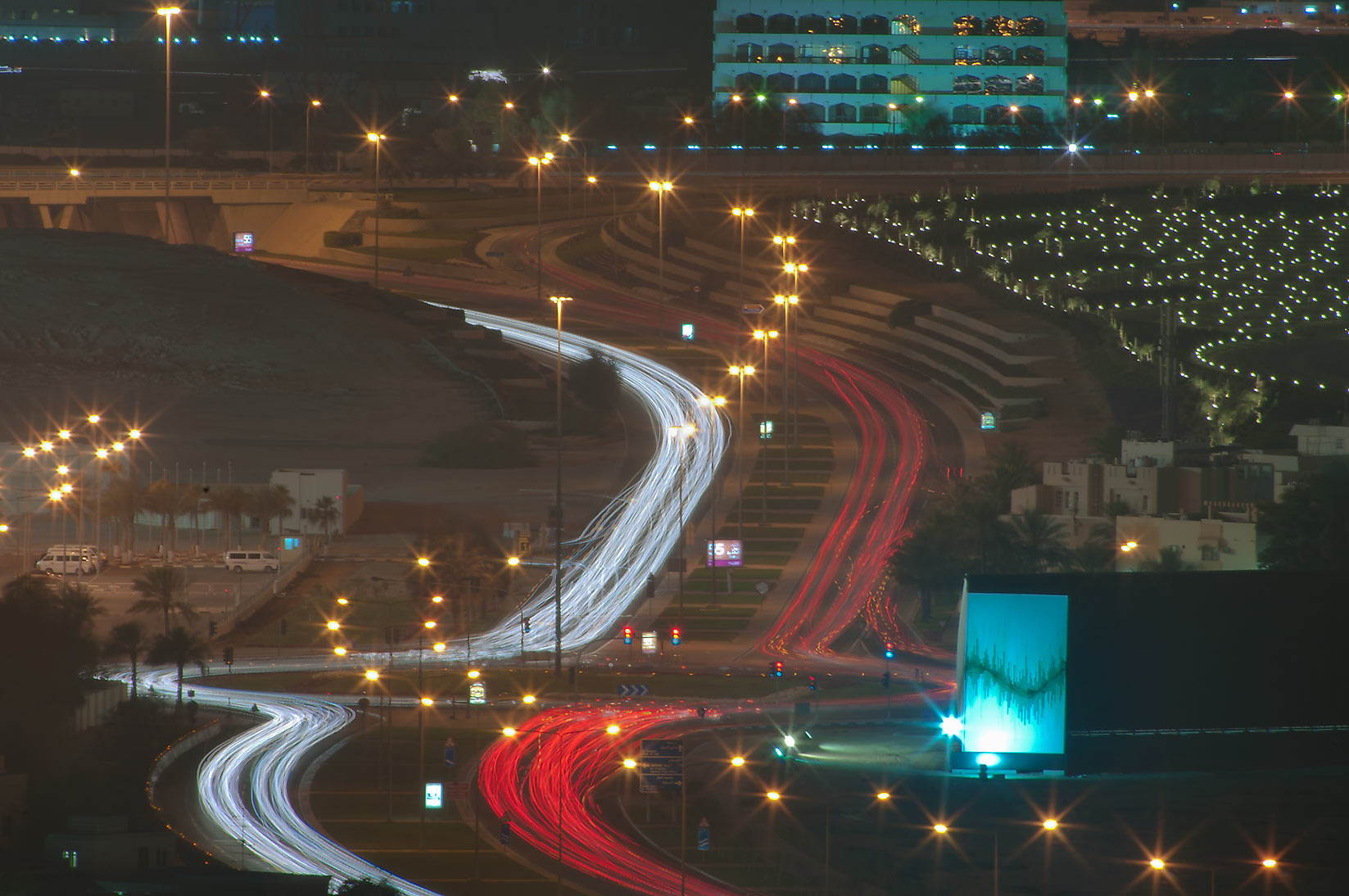 Al Istiqlal St. and Independence Roundabout at...2303 of ASAS Tower West. Doha, Qatar