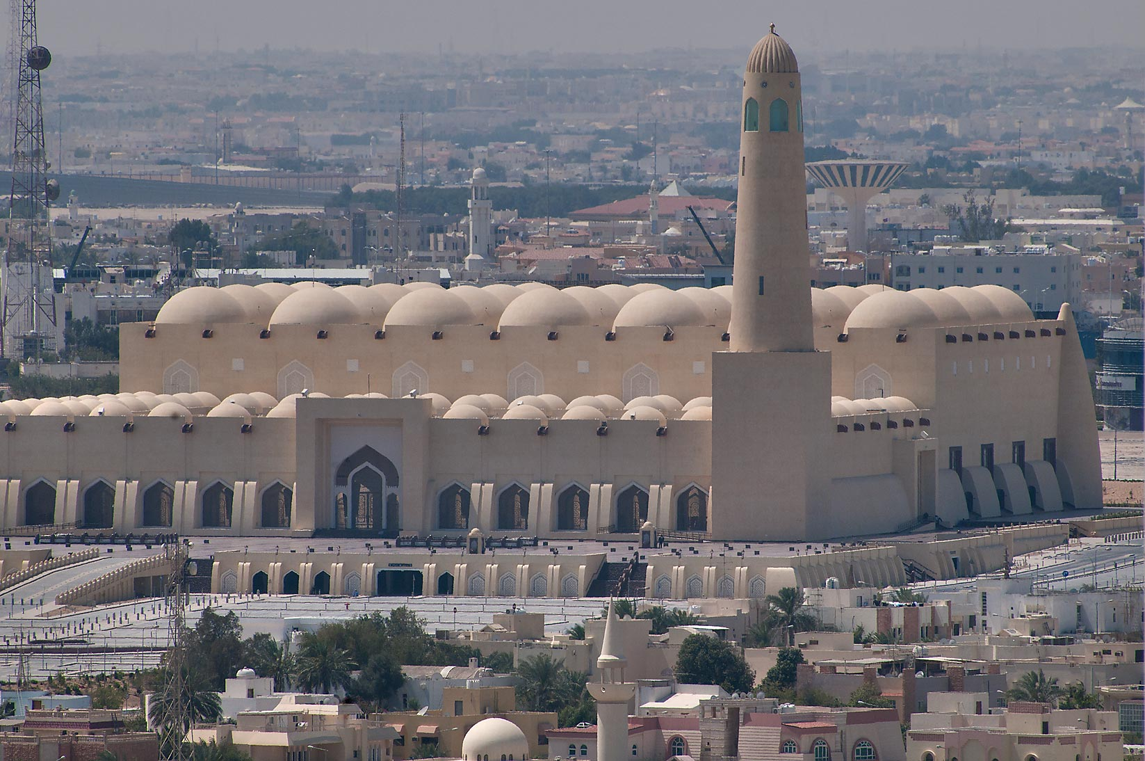 State Mosque at Al-Khuwair at daytime sunlight...2303 of ASAS Tower West. Doha, Qatar