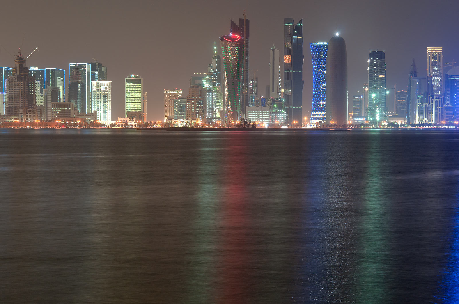 West Bay from Corniche at evening. Doha, Qatar