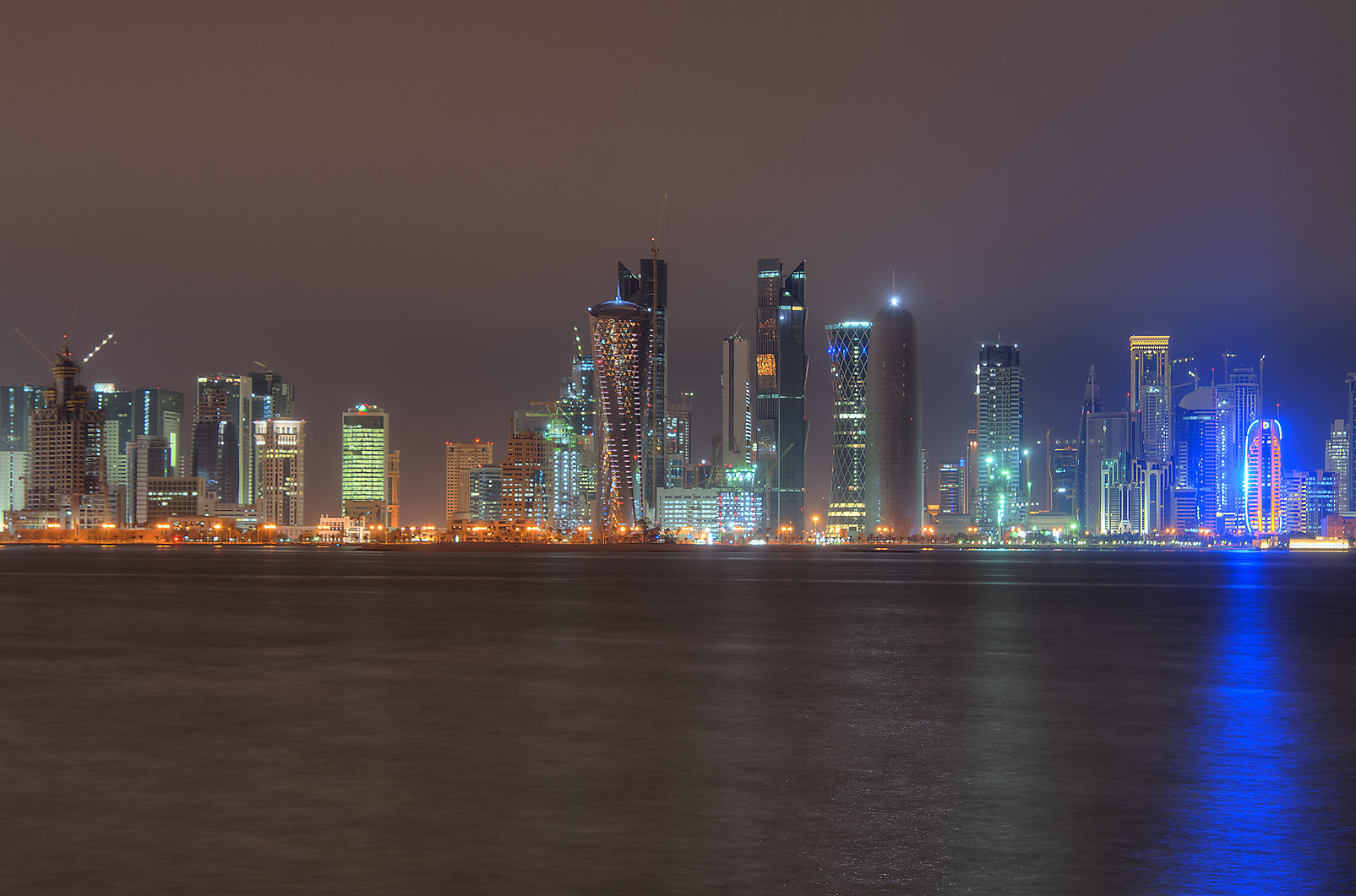 View of West Bay from Corniche. Doha, Qatar