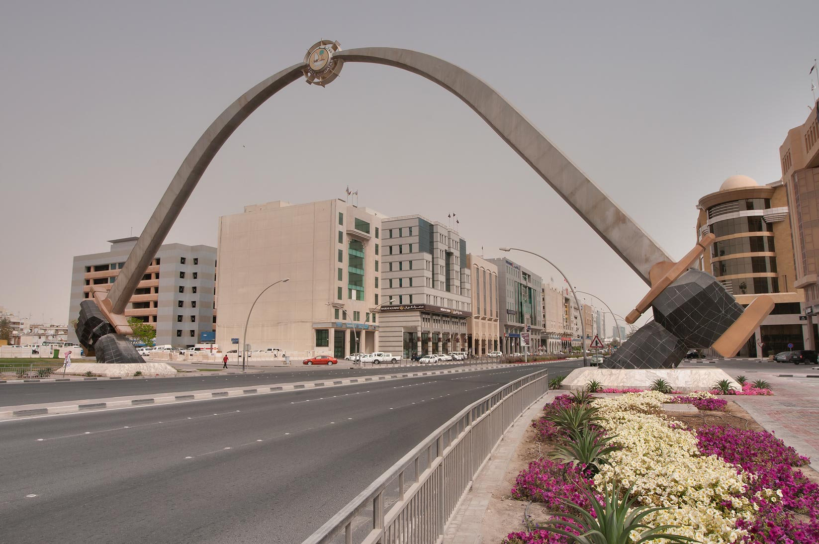 Crossed Swords at Grand Hammad St.. Doha, Qatar