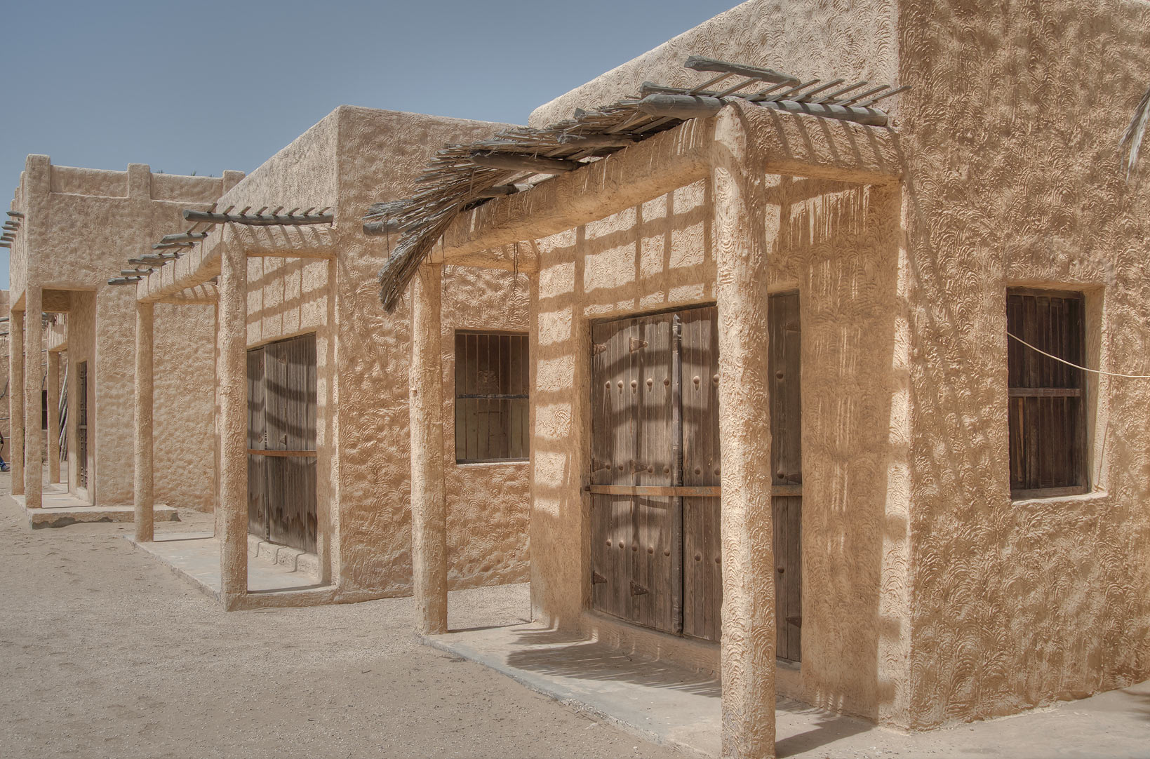 Houses in Film City built for a television...area, north from Zekreet. Qatar